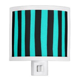 """Cool Designs"" Turquoise & Black Night Light"