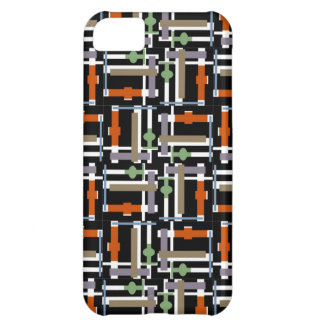 Cool Digital Abstract Pattern Black Computer Chip Cover For iPhone 5C