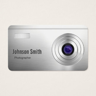 Cool Digital Camera Look - Photographer Rounded Business Card