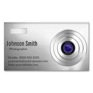 Cool Digital Camera - Photographer Photography Business Card Magnet