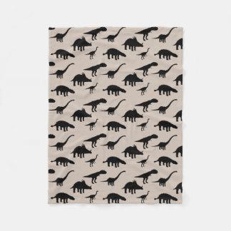 Cool Dino Dinosaurs Silhouettes Fleece Blanket