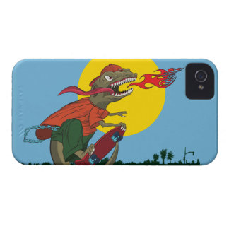 Cool Dinosaur Kid on Skateboard by Rich Patric Case-Mate iPhone 4 Case