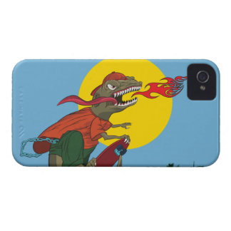 Cool Dinosaur Kid on Skateboard by Rich Patric iPhone 4 Case