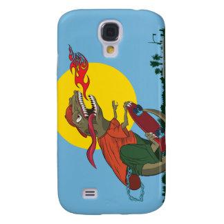 Cool Dinosaur Kid on Skateboard by Rich Patric Samsung S4 Case