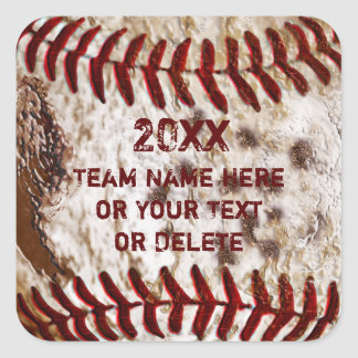 Cool Dirty Baseball Stickers PERSONALIZED
