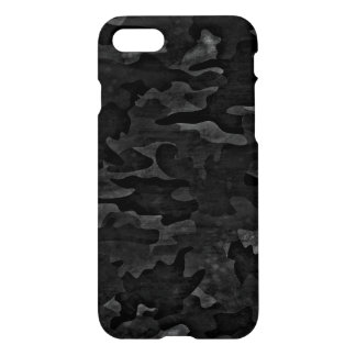 Cool Dirty Black Camo Camouflage Pattern Glossy iPhone 7 Case
