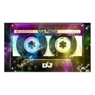Cool Disco 80 Old Cassette   DJ Music Double-Sided Standard Business Cards (Pack Of 100)