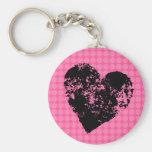 Cool disco love modern heart love pinback button key chains