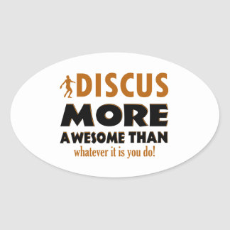 Cool Discus designs Oval Sticker