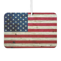 Cool Distressed American Flag Wood Rustic Air Freshener