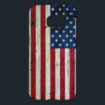 "Cool Distressed American Flag Wood Rustic Samsung Galaxy S7 Case<br><div class=""desc"">Cool Samsung case printed with a distressed American flag with a wood grain texture.</div>"