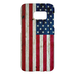 Cool Distressed American Flag Wood Rustic Samsung Galaxy S7 Case