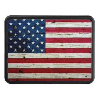Cool Distressed American Flag Wood Rustic Tow Hitch Cover