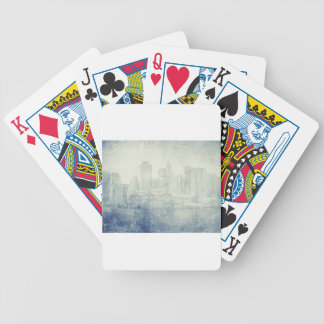 Cool distressed city skyline vintage effect design bicycle playing cards
