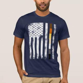 Cool Distressed Gay Bears Pride Flag T-Shirt