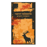 Cool distressed grunge moose custom business card