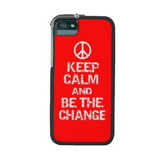COOL DISTRESSED KEEP CALM AND BE THE CHANGE CASE FOR iPhone 5