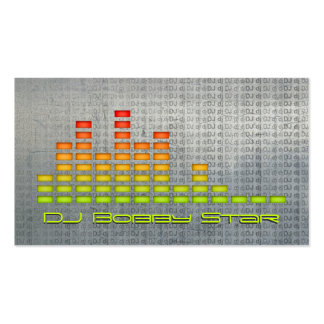 Cool dj equalizer metalic business card