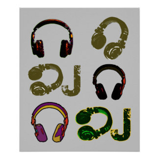 cool DJ headphones decor idea Poster
