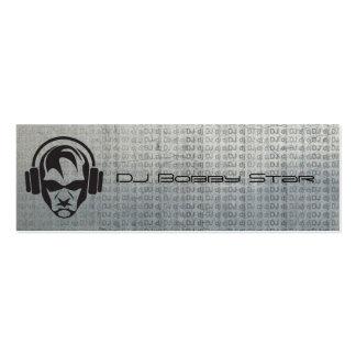 Cool dj icon metalic business card
