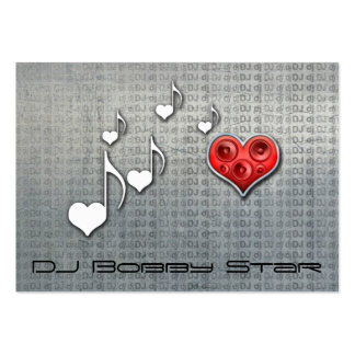 Cool dj metalic love music business card