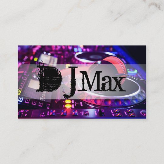 Cool dj music entertainment business card zazzle cool dj music entertainment business card reheart Image collections