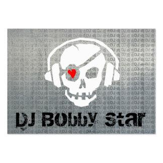 Cool dj skull logo metalic business card business cards