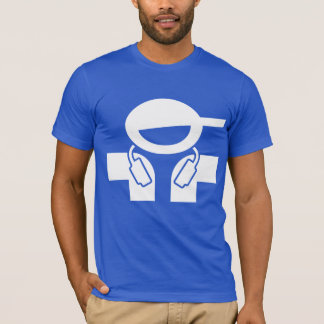 Cool DJ t-shirt - Disc Jockey with music headphone