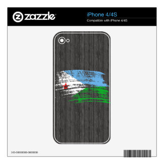 Cool Djibouti flag design Skin For The iPhone 4S