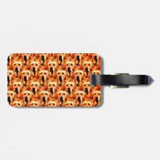 Cool Dog Art Doggie Golden  Retriever Abstract Bag Tag