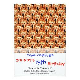 Cool Dog Art Doggie Golden Retriever Abstract Card