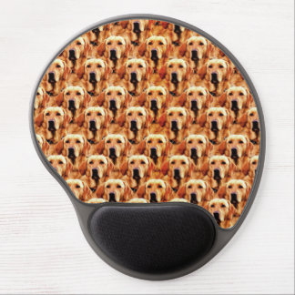 Cool Dog Art Doggie Golden Retriever Abstract Gel Mouse Pad