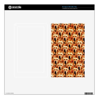 Cool Dog Art Doggie Golden Retriever Abstract Kindle Fire Skin