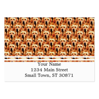 Cool Dog Art Doggie Golden Retriever Abstract Large Business Card