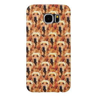 Cool Dog Art Doggie Golden Retriever Abstract Samsung Galaxy S6 Case