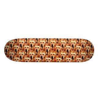 Cool Dog Art Doggie Golden Retriever Abstract Skateboard Deck