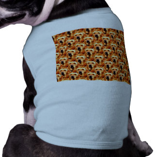 Cool Dog Art Doggie Golden  Retriever Abstract Tee