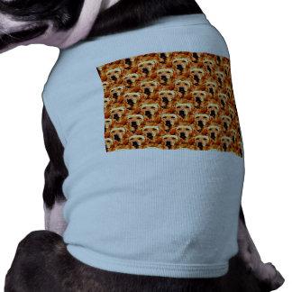 Cool Dog Art Doggie Golden  Retriever Abstract Tee