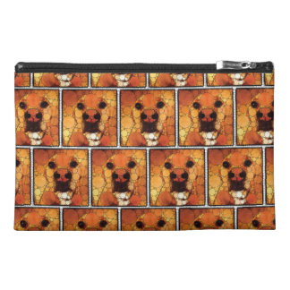 Cool Dog Art Doggie Noses Abstract Mosaic Travel Accessory Bags