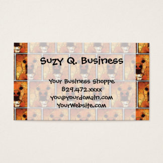 Cool Dog Art Doggie Noses Abstract Mosaic Business Card