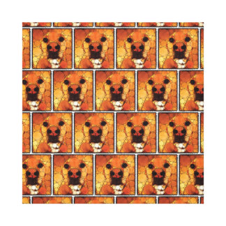Cool Dog Art Doggie Noses Abstract Mosaic Canvas Print