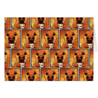 Cool Dog Art Doggie Noses Abstract Mosaic Stationery Note Card