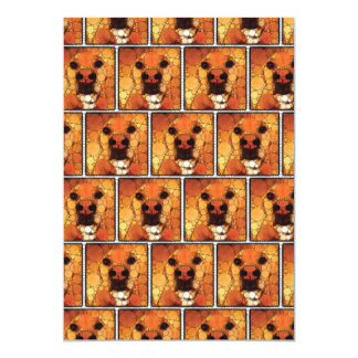 Cool Dog Art Doggie Noses Abstract Mosaic Card