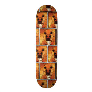 Cool Dog Art Doggie Noses Abstract Mosaic Skateboard
