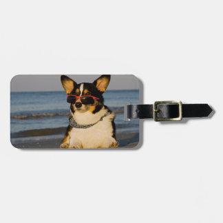 Cool Dog at the Beach Bag Tag