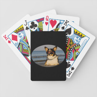 Cool Dog at the Beach Bicycle Playing Cards