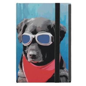 Cool Dog Black Lab Red Bandana Blue Goggles iPad Mini Covers