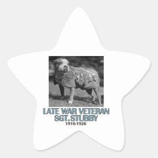 cool dog designs star sticker
