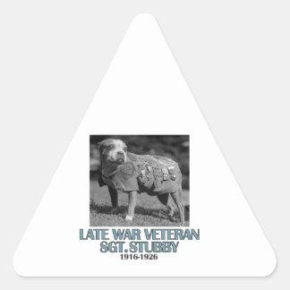 cool dog designs triangle sticker