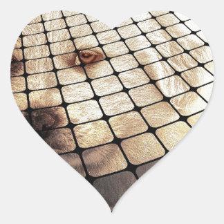 Cool Dog Digital Art Heart Sticker